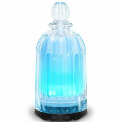 Essential Oils 120ML Glass Ultrasonic Aroma Diffuser with 7 Colour LED lights.