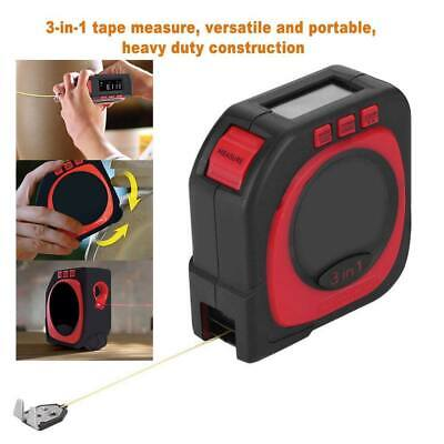 Measure King 3-in-1 Digital Tape Measure String Sonic Roller Mode Laser Tool