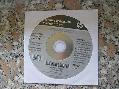 HP Windows 10 Professional 64 Bit Operating System Recovery DVD NEU