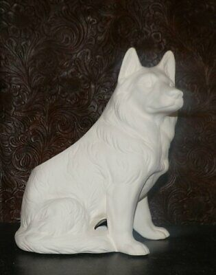 Collie or German Shepard Dog Puppy Planter *  Ceramic Bisque Ready to Paint * Pa