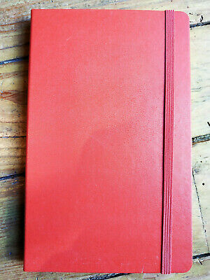 Carnet MOLESKINE Notebook, dégriffé 21x13 cm Rouge Brique, pages 5x5 mm