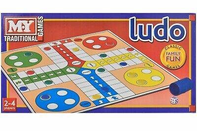M.Y Full Size Traditional Classic Board Game Ludo Family Kids Fun Game New