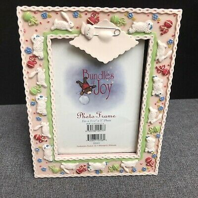 Bundles of Joy Picture Frame with Sheep and Bunnies