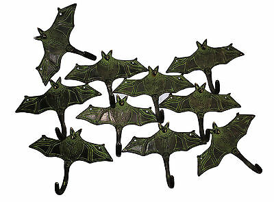 A LOT of 10 Attractive & Awesome Brass Made Unique BAT Designed coat hooks India