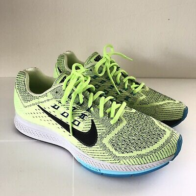 best loved 7a49d 29627 Nike Air Zoom Structure 18 Men s Running Green Black Blue 683731-301 Men