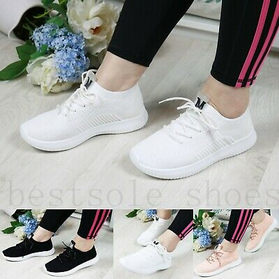 Womens Ladies Running Trainers Gym Walking Sneakers Plimsolls Shoes Size