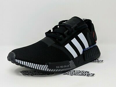 official photos 3775a 13583 ADIDAS NMD_R1 JAPAN Colorblock Core Black Cloud White Lush Blue Running  EF1734