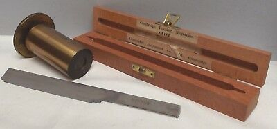 Microtome [ Lacquered Brass ] C1890 { Working } Cambridge [ Boxed Cutter ] Fine