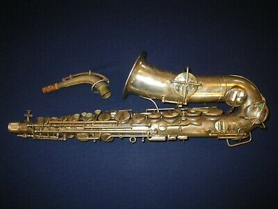 Vintage Silver Lyon & Healy Couturier Model Alto Saxophone - For Restoration