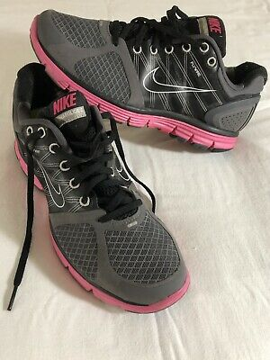 e751ee791ddb NIKE Walking Running shoes Lunarglide 2 Flywire Size 9 Black   Pink Womens