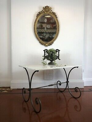 Antique Marble Top Table / French Patisserie Table