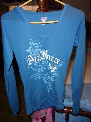NWT Girls Soffe Light Weight Blue Air Force Hoodie  Size S