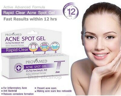 3 Tubes X 10 Grams Provamed Acne Spot Gel Pimple Clear Skin Face Care Treatment