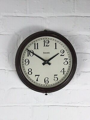 1930's Ferranti Wall Clock Office School Factory Industrial Antique Deco Vinta