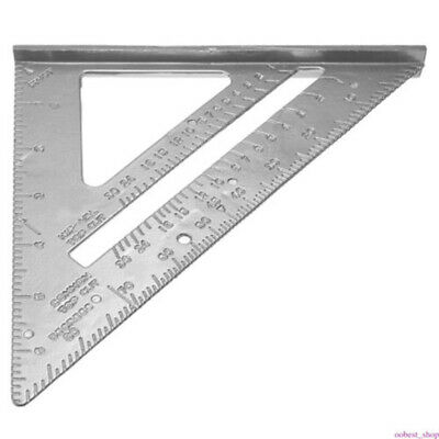 1* 7Inch Square Carpenter Measuring Ruler Layout Tools Triangle Angle Protractor