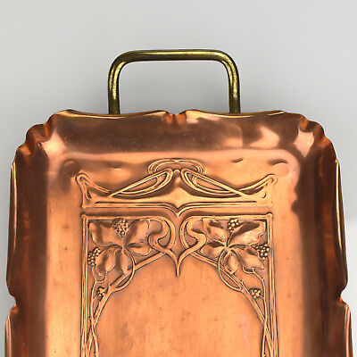 Antique WMF Arts & Crafts Tray Copper & Brass Art Nouveau Jugendstil