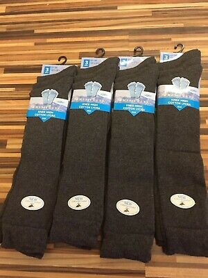 12 Pairs Grey Knee High School Socks Size 12.5-3.5 (31-36)