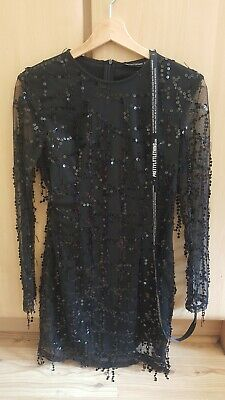 Pretty Little Thing Black sequin dressNew with TagsSize 8 #PrettyLittleThing