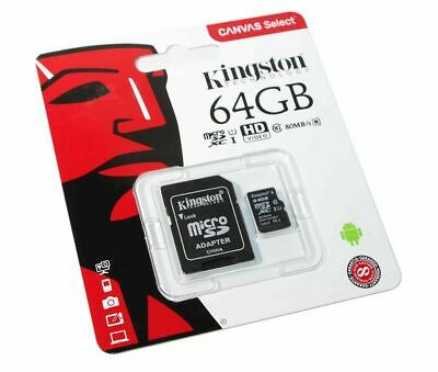 64 GB  Micro SD Card TF Flash Memory Card With Free Adapter- NEW -UK