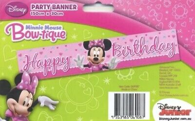 Minnie Mouse Birthday Party Supplies Banner Decoration Disney Bowtique