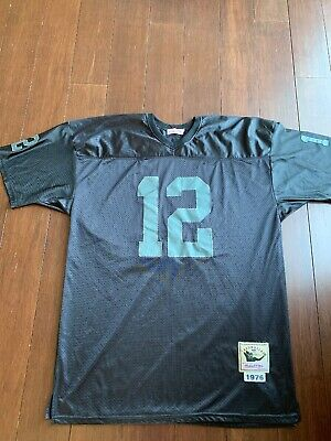Hot MITCHELL & NESS Throwbacks Oakland Raiders Ken Stabler #12 Sewn