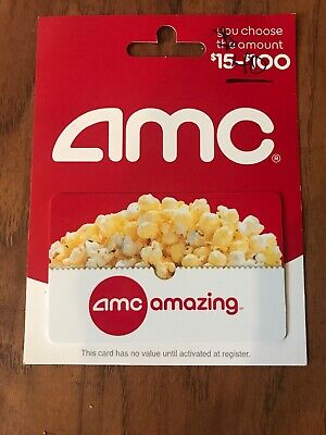 AMC Movie Theater Theatre Gift Card Never Used $40 Value Fast Shipping!  Trusted