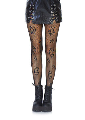 Fence Net Footless Tights Festival Emo Punk Gothic Big Fishnets Rock