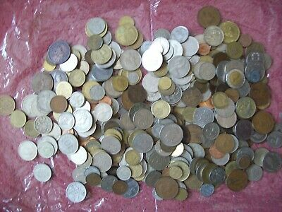 One Kilo of  Mixed European and World Coins some very early
