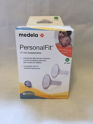 Medela Breast Pump Shields, PersonalFit Size Large, 27mm, for Pumping and Easy C