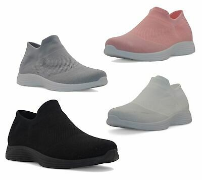 Ladies Low Top Trainers Girls Slip On Sneakers Sport Casual Running Shoes