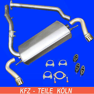 FORD TRANSIT CHASSIS CAB 2.5 D 70/80HP 1988-1991 Silencer Exhaust System Complete Car Exhaust Systems Car Parts