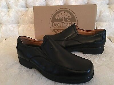 d2f1f0a29 $695 NEW GUCCI Men's Broadwick Double 'G' Slip on Leather Loafers Sz ...