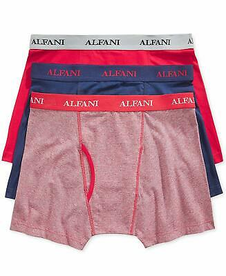 09d6d603cf8c NEW Alfani Men's Stretch Boxer Briefs Cotton Red/Blue Feeder 3 Pairs