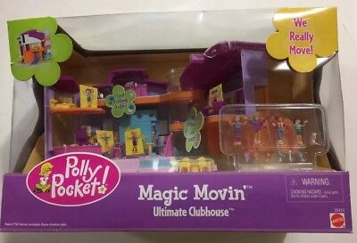 Polly Pocket Vintage NIB Rare Magic Movin' Ultimate Clubhouse Lights & Sound2000