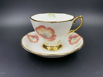 Royal Albert 100 Years 1970' Poppy Tea Cup and Saucer Set Bone China