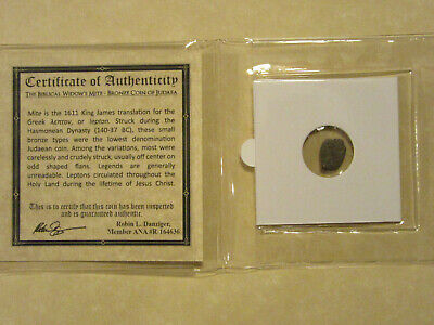 """The Widows Mite"" 2000 year old coin Bible story gift for religion Christian 12"