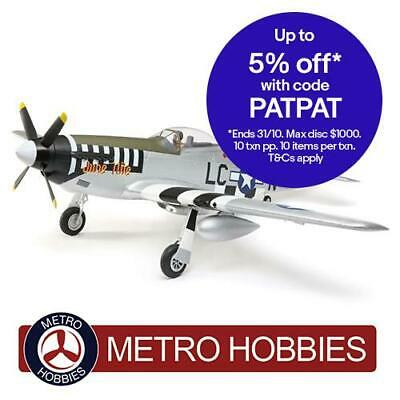 E-Flite P-51D Mustang RC Plane 1.2m BNF Basic with AS3X and SAFE Select EFL8950