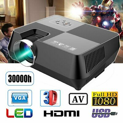 7000 lumens Outdoor LED Full HD Video Projector Home Theatre HDMI USB VGA SD NSW