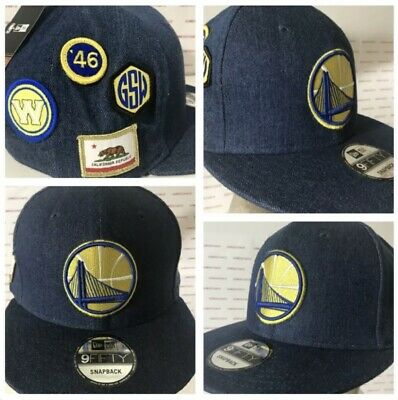 261e9e92 NWT NEW ERA 9Fifty GS Warri 2018 NBA Draft Side Patch BLUE DENIM Snapback  Cap