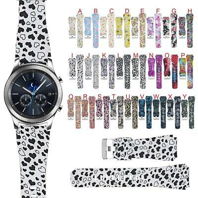 Silicone Sport Wristband Watch Bands Strap For Samsung Gear S3 Classic/ Frontier
