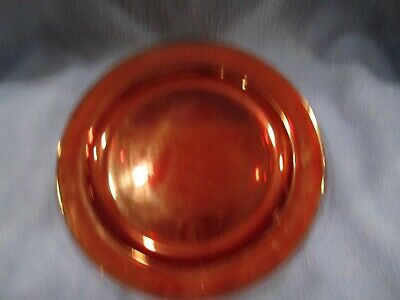 """Vintage Arcoroc France Rimmed Ruby Red glass 10"""" Dinner plate Luminarc"""