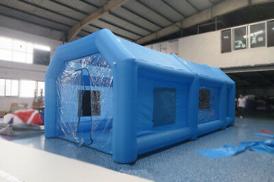 8*4*3m Inflatable Giant Car Workstation Spray Paint Booth Tent Custom Fastship
