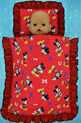 """Play n Wear Doll Clothes 17"""" Baby Born & 16"""" Cabbage Patch PILLOW & QUILT SET"""