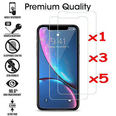 Crystal Clear TEMPERED GLASS FILM SCREEN PROTECTOR FOR iPhone XR XS MAX 8 7 6s+