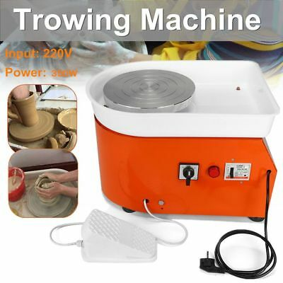 25CM 350W Electric Pottery Wheel Machine For Ceramic Work Clay Art Crafts Tools