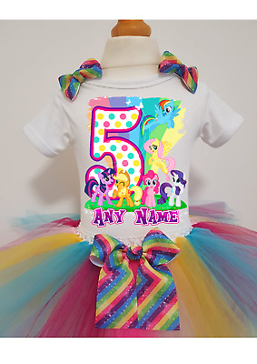 Girls my little pony Birthday tutu dress outfit any number any name