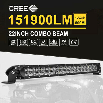 22Inch LED Light Bar Spot Flood Work Driving Offroad SUV Lamp Penta Row 20'' 23'