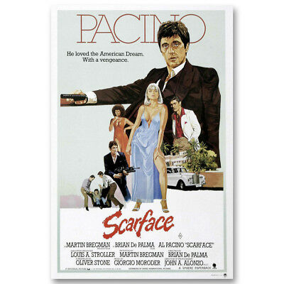 Scarface Classic Canvas Movie Posters Art Prints 8x12 24x36 inch Al Pacino
