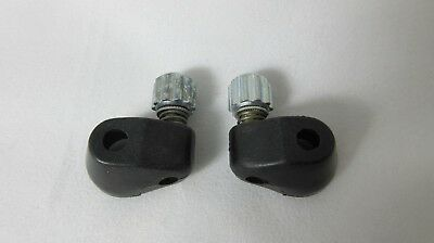 NEW Campagnolo Downtube adjuster pair, cable stopper, black plastic