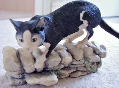 Collectable hand made in Scotland by border fine Arts cat figure-ornament,4